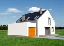 Проект современного мансардного коттеджа с четырьмя спальнями