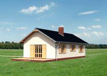 Милый двухэтажный дом с просторной верандой