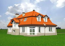 Величественный загородный дом с колоннами