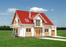 Восхитительный двухэтажный дом, декорированный кирпичом