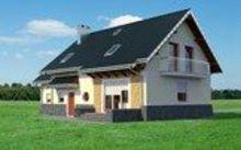 Проект поместья с мансардой для узкого участка с габаритами 9 на 15
