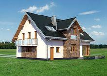 Восхитительный двухэтажный дом с эркером и балконами