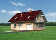 Загородный дом с мансардой для небольшой семьи