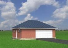 Проект широкого одноместного гаража с кладовкой