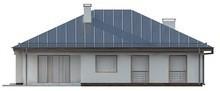 Проект одноэтажного дома с большим гаражом для двух автомобилей