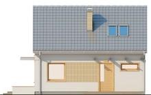 Проект небольшого дома с мансардой с двускатной крышей