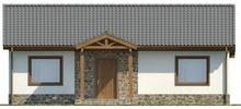 Проект простого уютного одноэтажного дома с двумя спальнями
