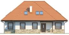Проект большого дома с мансардой