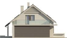 Проект небольшого одноэтажного дома с террасой над гаражом