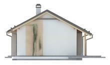 Проект простого недорогого одноэтажного дома