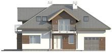 Проект классического дома с гаражом и прекрасной мансардой
