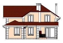 Проект классического двухэтажного особняка для наклонного участка