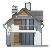 Проект дома с гаражом для узкого участка