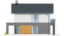 Проект двухэтажного коттеджа для узкого участка