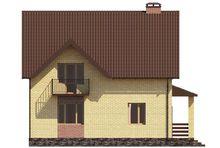 Проект стильного двухэтажного дома с двумя аккуратными балкончиками