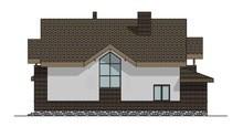 Комфортный дом с мансардой с просторной террасой
