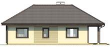 Проект компактного дома с террасой