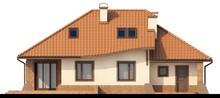Проект дома с гаражом, угловой террасой