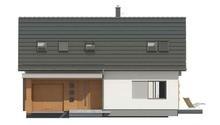 Проект небольшого дома с мансардой и гаражом