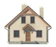 Проект классического домика с мансардой