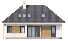 Проект традиционного небольшого уютного загородного дома