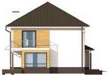 Проект двухэтажного коттеджа с гаражом на два авто