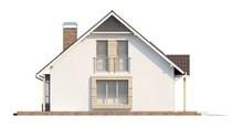 Проект стильного дома с мансардой и гаражом