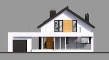 Просторный красивый дом с уютной гостевой зоной