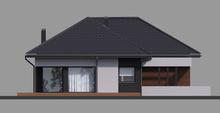 Современный одноэтажный особняк с гаражом на два авто