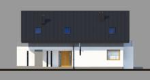Двухэтажный стильный дом с двумя балконами