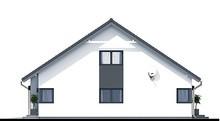 Чертеж современного жилого дома с гаражом и чердаком