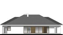 Просторный одноэтажный жилой дом с гостиной в центре