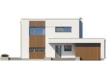 Современный стильный двухэтажный дом