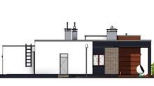 Одноэтажный жилой дом с просторной гостиной
