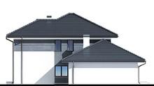 Стильный современный особняк с красивым балконом