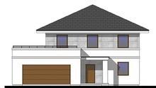 Красивый жилой особняк с просторной террасой