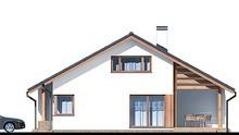 Современный дом с мансардой и гаражом