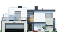 Стильный дом с просторными верандами и террасами