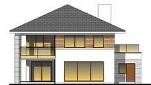 Великолепный особняк с пятью спальнями и просторной террасой на втором этаже