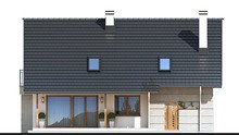 Двухэтажный дом с красивыми балконами