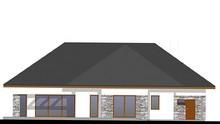 Красивый одноэтажный дом с гаражом на три авто
