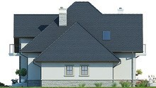 Великолепный дом с полукруглыми балконами