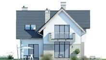 Проект двухэтажного дома с кухней-студией и кабинетом