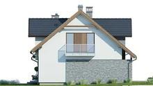 Красивый дом с каменным декором