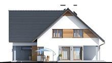 Стильный дом с мансардой и спортзалом
