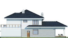 Красивый дом с большой террасой
