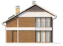 Двухэтажный коттедж для узкого участка