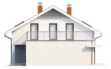 Проект коттеджа со встроенным гаражом и 2 спальнями