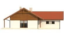 Планировка жилого одноэтажного дома площадью 120 кв. м на два гаража