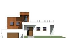 Оригинальный проект жилого дома площадью 180 кв. м в стиле минимализма с огромными террасами